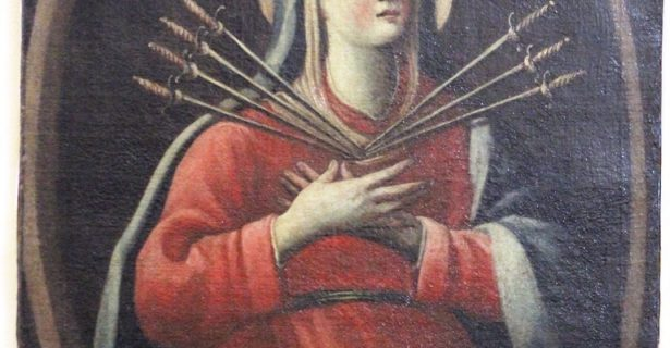 LA TELA DELLA VERGINE ADDOLORATA  (SECC. XVII-XVIII) NELLA CHIESA MADRE