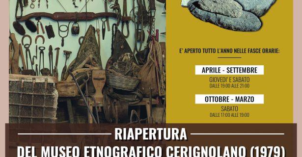 RIAPERTURA DEL MUSEO ETNOGRAFICO CERIGNOLANO (1979)